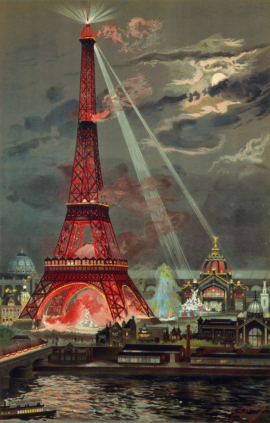 Wings of Whimsy: 1899 Georges Garen Eiffel Tower #vintage #ephemera