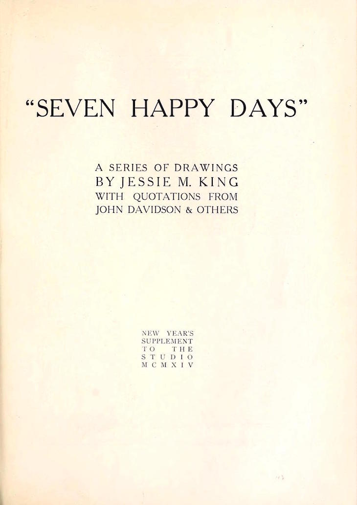 Wings of Whimsy: Seven Happy Days 1914 #freebie #printable #ephemera #international #studio