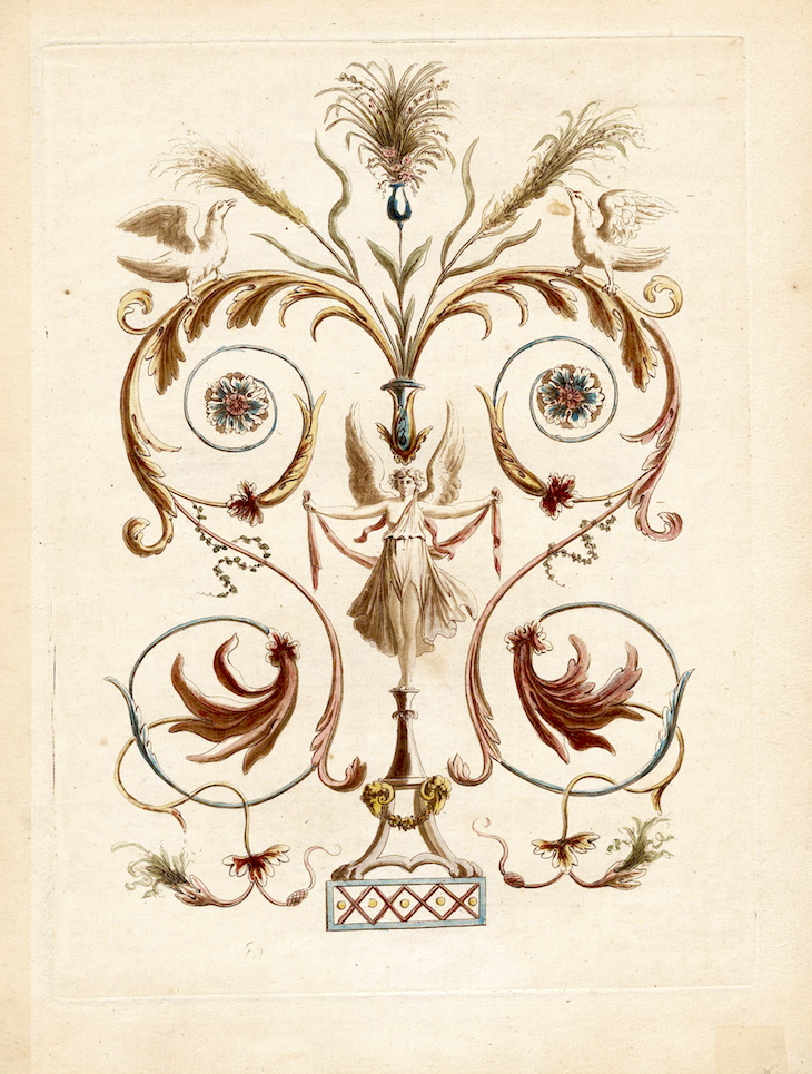 Wings of Whimsy: Nouvelle collection d'arabesques - Alexandre Lenoir 1810 - #antique #french #freebie #printable #arabesque