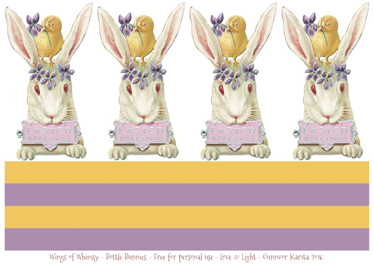Wings of Whimsy: Vintage Bunny Bottles #vintage #ephemera #freebie #printable #easter #bunny #rabbitt #bottle