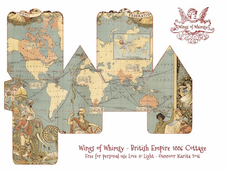 Wings of Whimsy: Map Cottage No 3: British Empire 1886 #vintage #freebie #printable #ephemera #map #british #empire