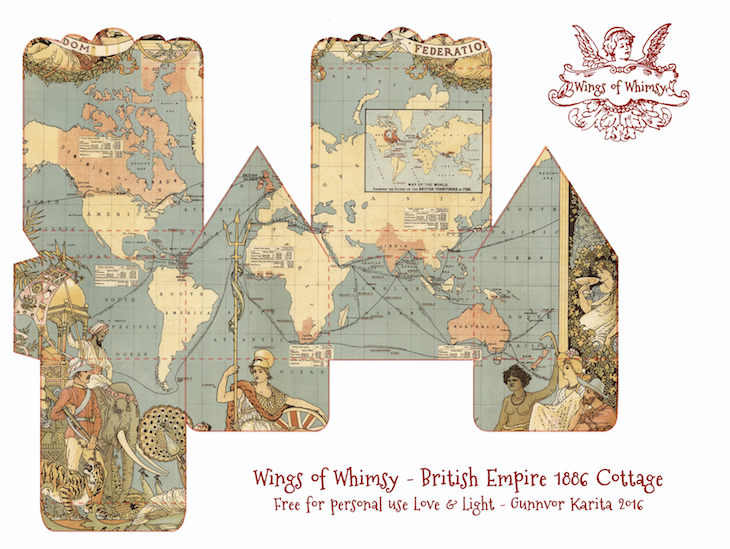 Wings of Whimsy: Map Cottage No 3: British Empire 1886 #vintage #freebie #printable #ephemera #map #british #empire