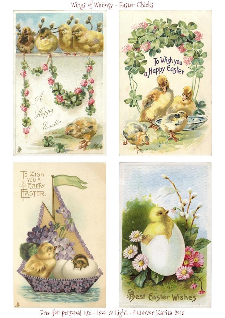Wings of Whimsy: Easter Chicks #vintage #ephemera #freebie #printable #easter #chicks