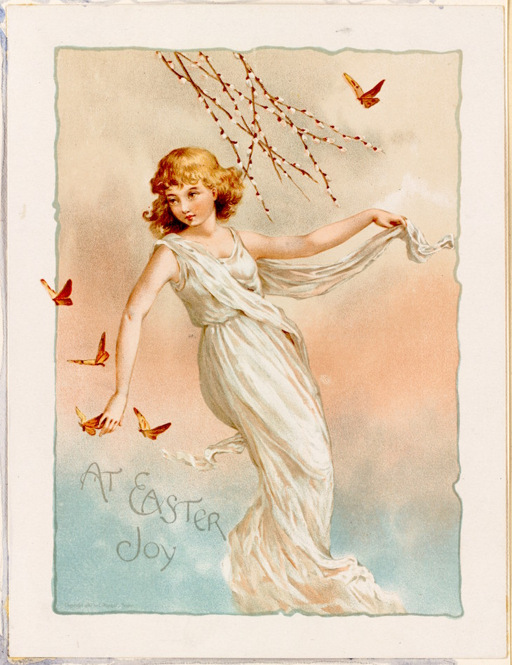 Wings of Whimsy: Easter Nymph No1 #vintage #ephemera #freebie #easter #nymph