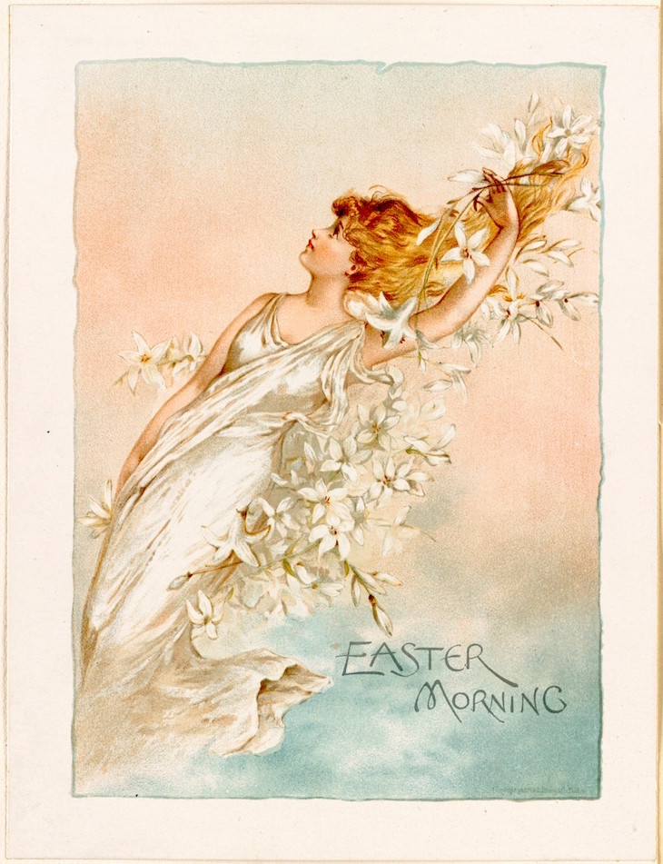 Wings of Whimsy: Easter Nymph No2 #vintage #ephemera #freebie #easter #nymph