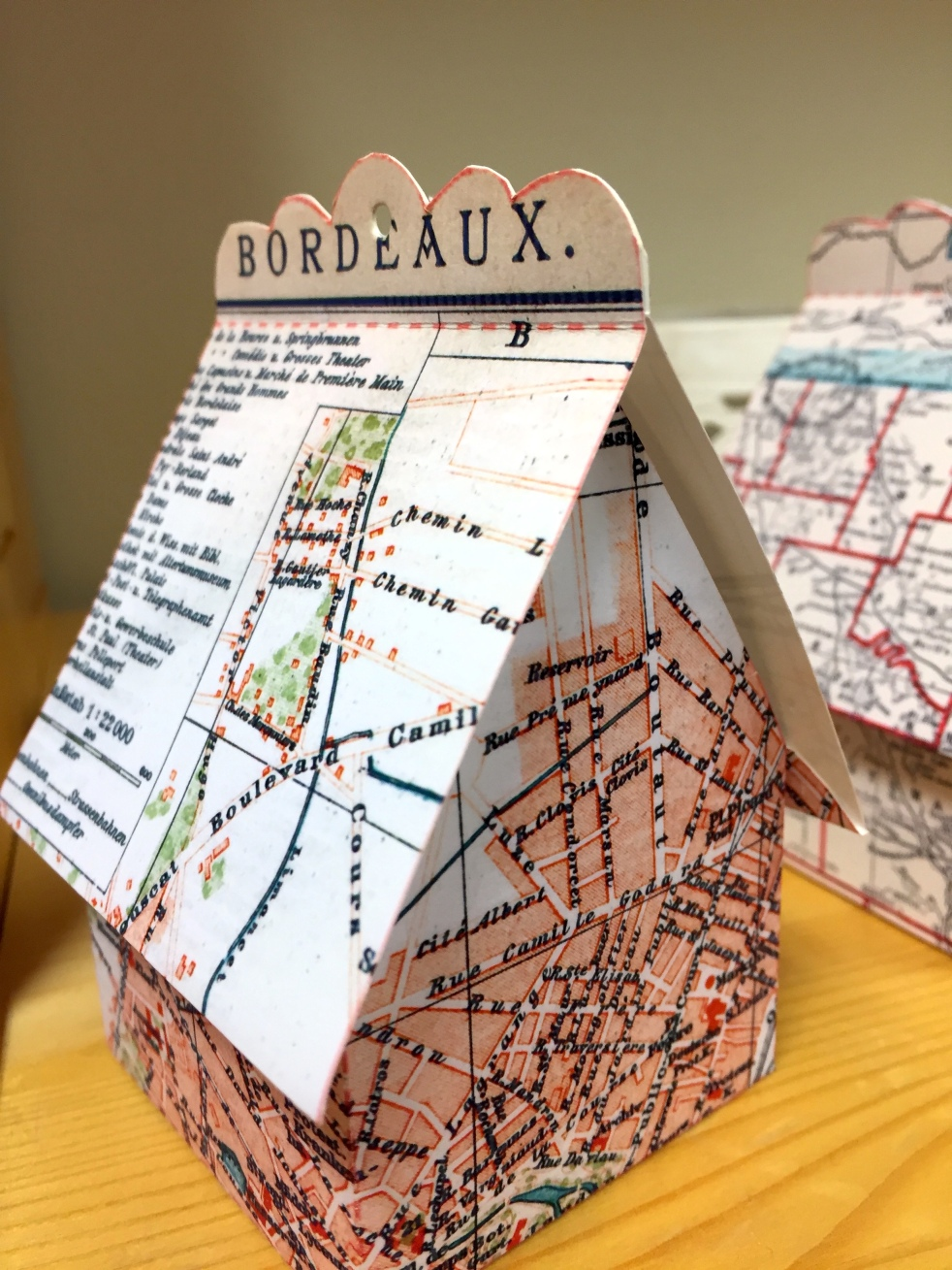 Wings of Whimsy: Map Cottage No 4: Bordeaux 1892 #vintage #freebie #printable #ephemera #map #bordeaux