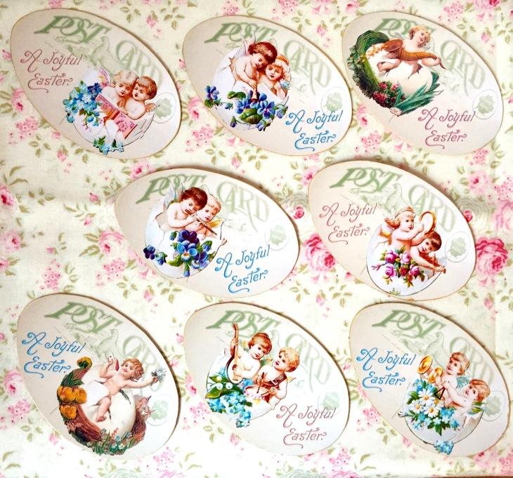 Wings of Whimsy: Cherub Egg Tags #vintage #ephemera #freebie #printable #easter #cherubs #eggs