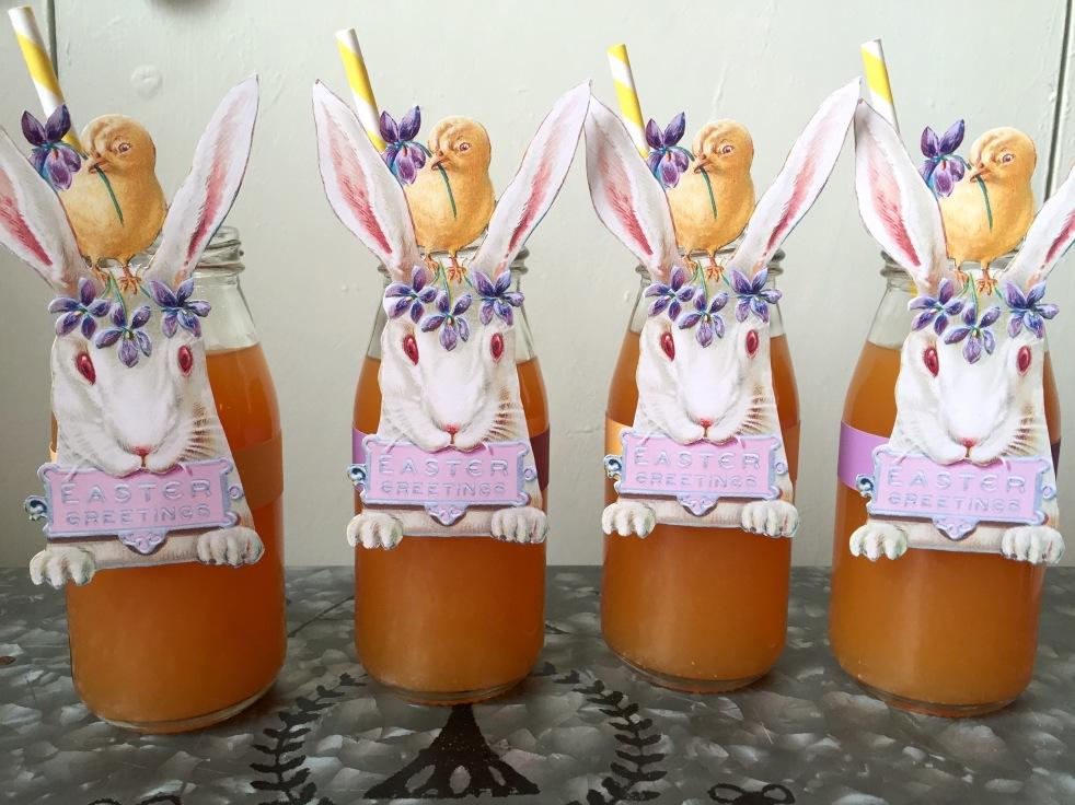 Wings of Whimsy: Vintage Bunny Bottles #vintage #ephemera #freebie #printable #easter #bunny #rabbitt #bottle