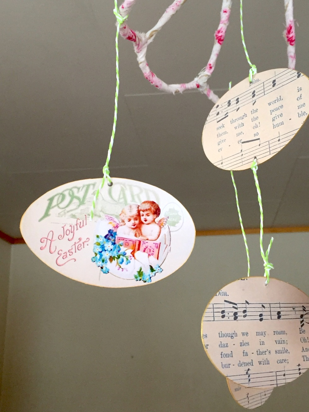 Wings of Whimsy: Cherub Egg Tags #vintage #ephemera #freebie #printable #easter #cherubs #eggs
