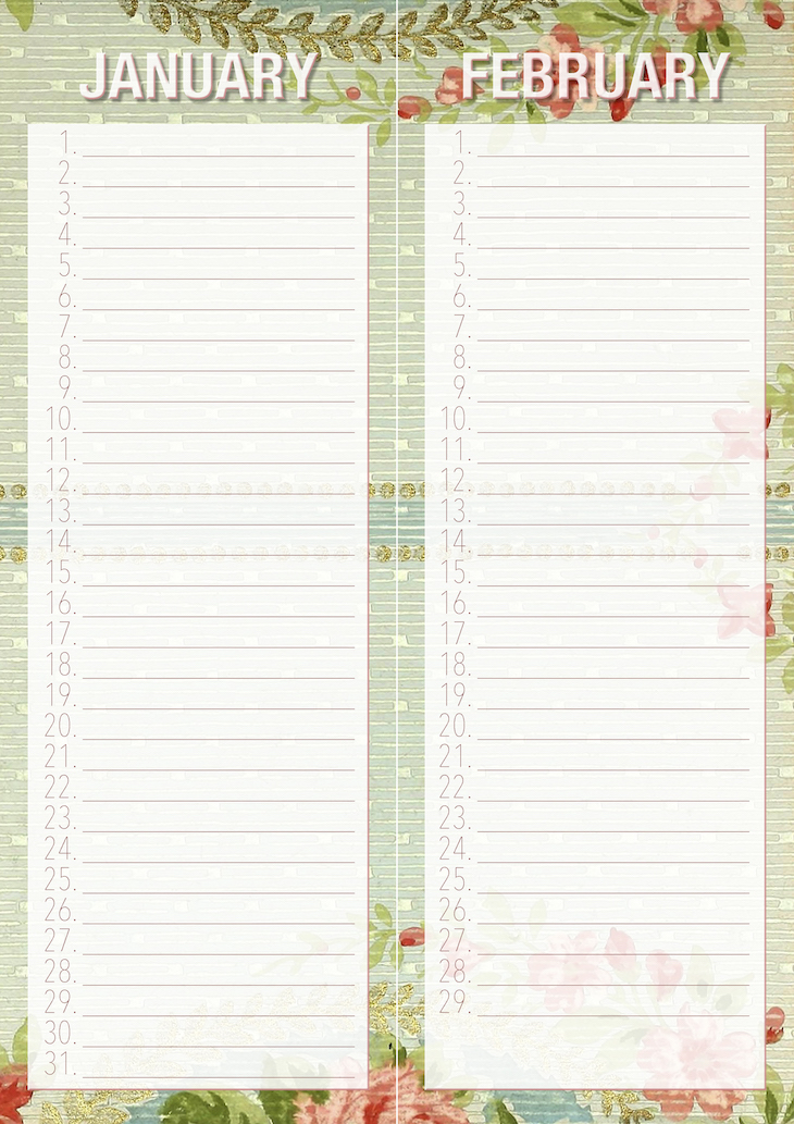 Wings of Whimsy: Vintage Rose Wallpaper Birthday Erasable Calendars #freebie #ephemera #vintage #printable #wallpaper #birthday #calendar