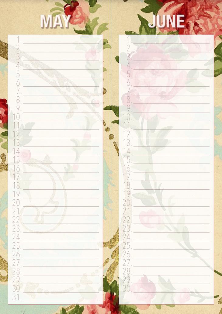 Wings of Whimsy: Vintage Rose Wallpaper Birthday Erasable Calendars #freebie #ephemera #vintage #printable #wallpaper #birthday #calendar