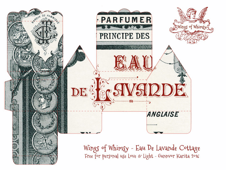 Wings of Whimsy: Perfume Cottages - Giraud Black & Red Typography Labels #vintage #freebie #printable #ephemera #perfume #label