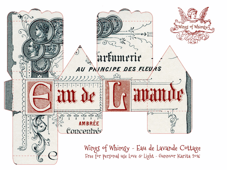 Wings of Whimsy: Perfume Cottages - Giraud Black & Red Typography Labels #vintage #freebie #printable #ephemera #perfume #label