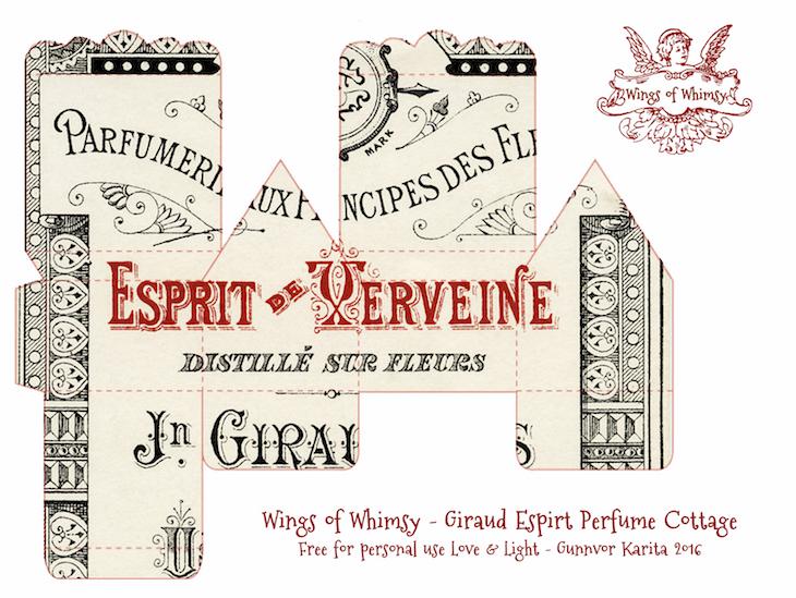 Wings of Whimsy: Perfume Cottages - Giraud Black & Red Typography Labels #vintage #freebie #printable #ephemera #perfume #label kopi