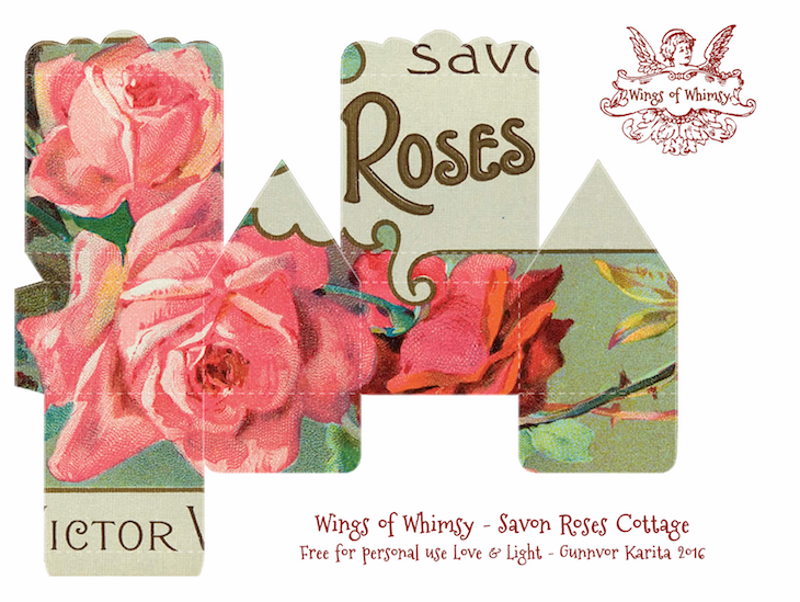 Wings of Whimsy: Perfume Cottage No 2: Savon Roses #vintage #freebie #printable #ephemera #perfume #label #rose