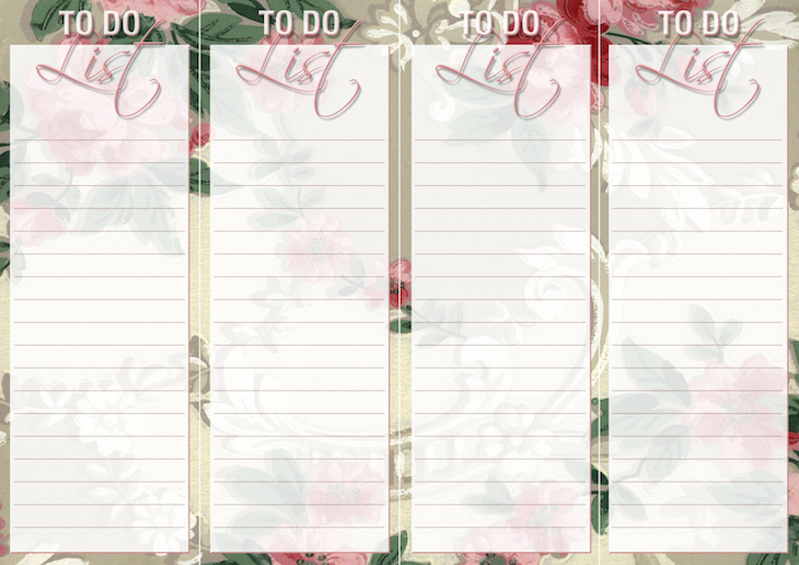 Wings of Whimsy: Vintage Wallpaper Lists: TO DO #ephemera #vintage #freebie #printable #wallpaper #list