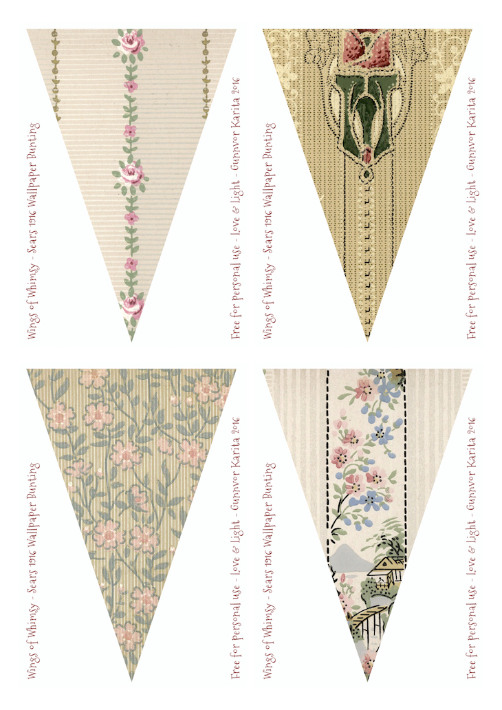 Wings of Whimsy: Sears Vintage Wallpaper Flags #vintage #ephemera #freebie #printable #wallpaper #flag #bunting