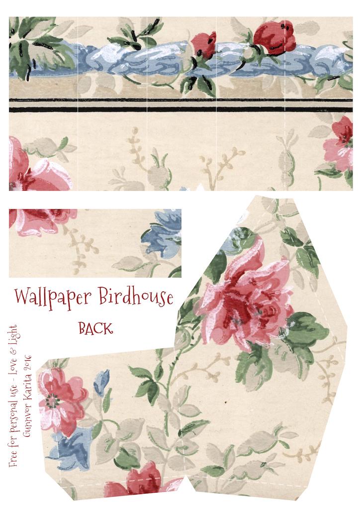 Wings of Whimsy: Wallpaper Birdhouse No 3 Back #vintage #ephemera #freebie #printable #wallpaper #bird #house