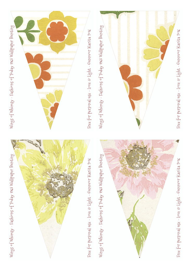 Fashions Of Today Vintage Wallpaper Flags No 241 252 Mix Match