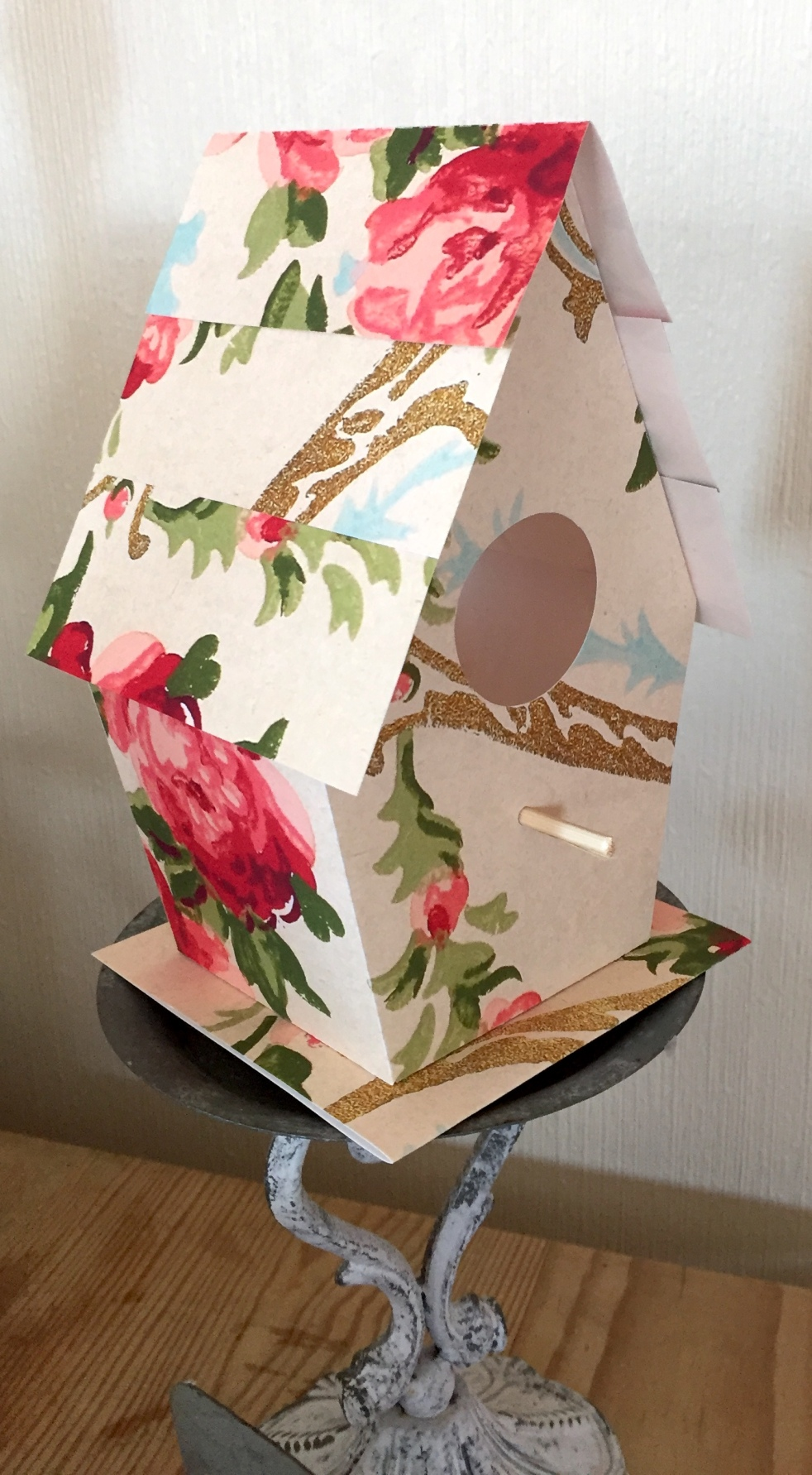 Wings of Whimsy: Wallpaper Birdhouse