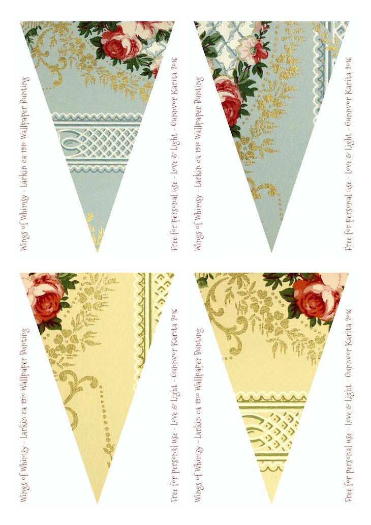 Larkin Vintage Wallpaper Flags No 185-192 – Mix & Match