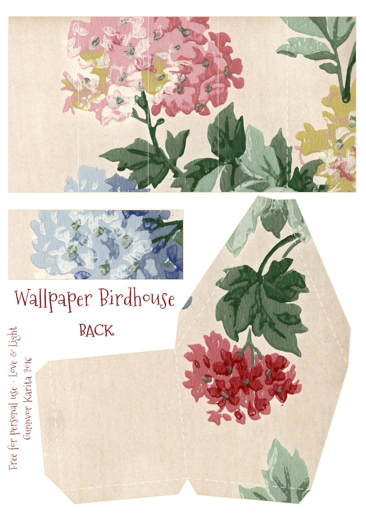 Wings of Whimsy: Wallpaper Birdhouse No 10 Back #vintage #ephemera #freebie #printable #wallpaper #bird #house