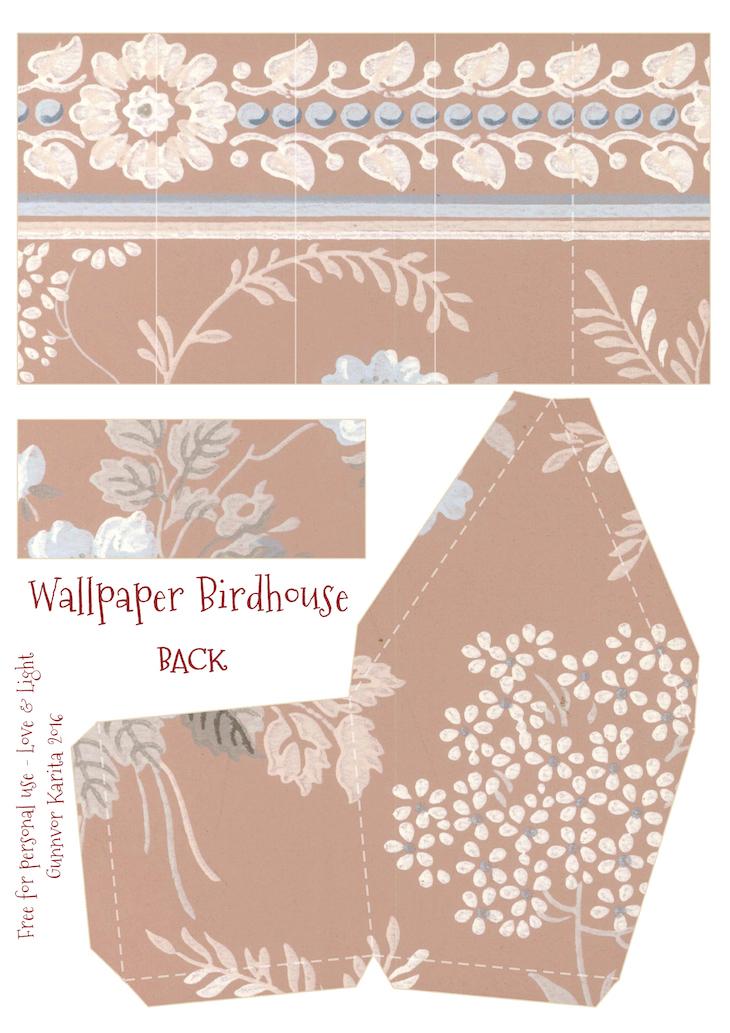 Wings of Whimsy: Wallpaper Birdhouse No 11 Back #vintage #ephemera #freebie #printable #wallpaper #bird #house