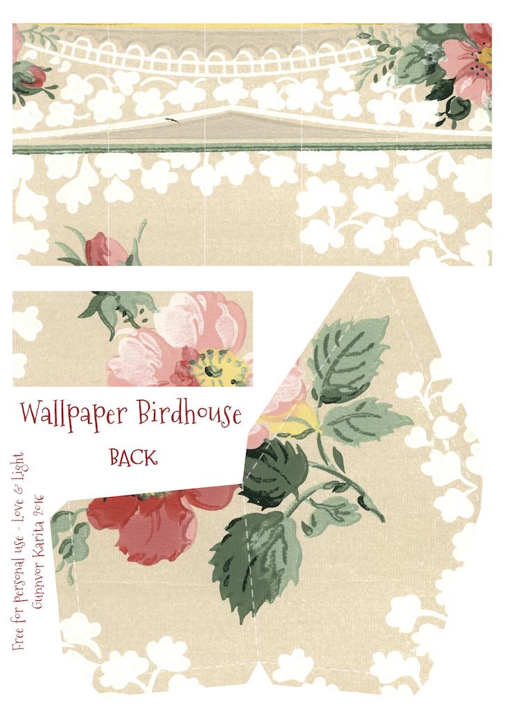 Wings of Whimsy: Wallpaper Birdhouse No 16 Back #vintage #ephemera #freebie #printable #wallpaper #bird #house