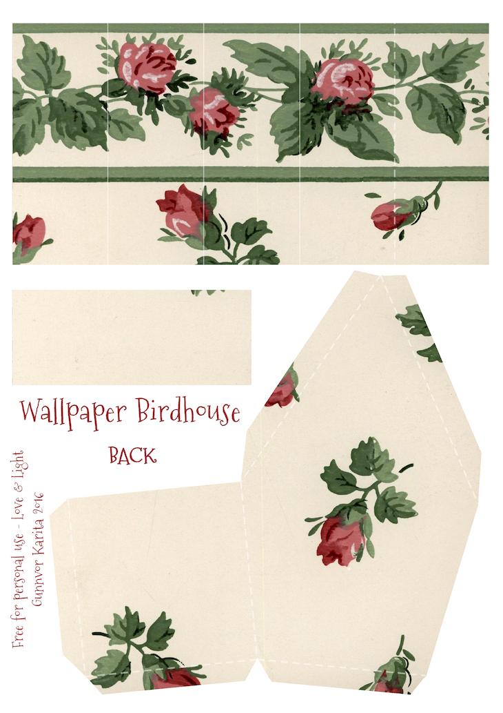 Wings of Whimsy: Wallpaper Birdhouse No 4 Back #vintage #ephemera #freebie #printable #wallpaper #bird #house kopi