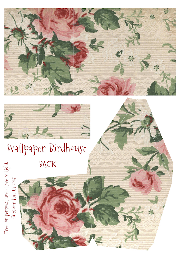 Wings of Whimsy: Wallpaper Birdhouse No 5 Back #vintage #ephemera #freebie #printable #wallpaper #bird #house kopi