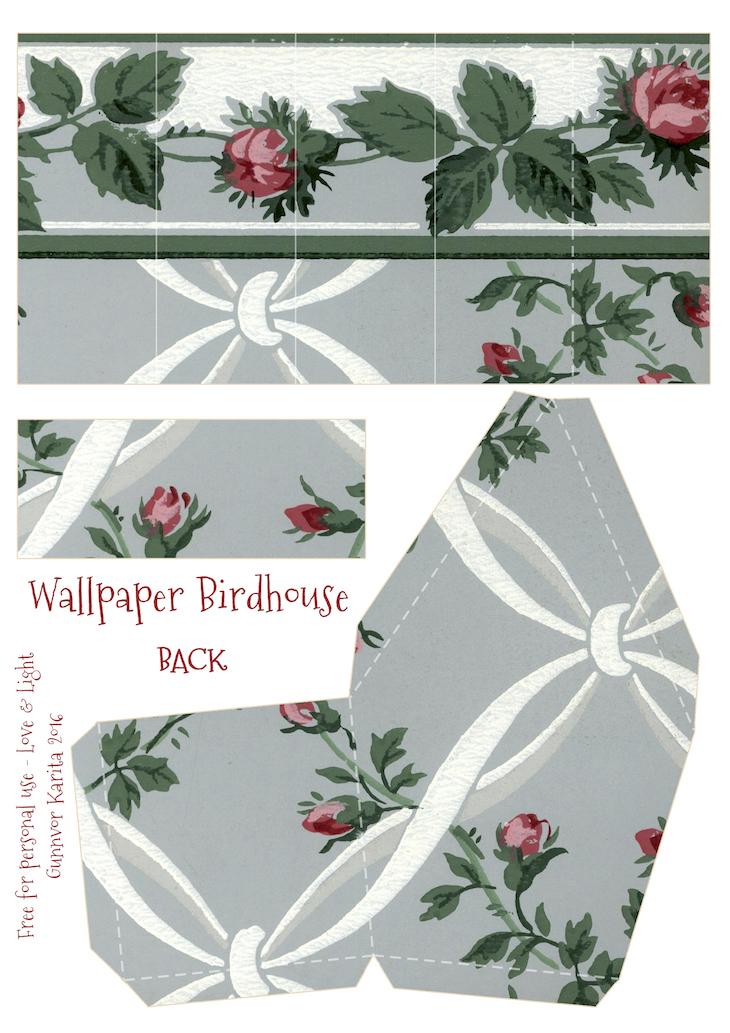 Wings of Whimsy: Wallpaper Birdhouse No 6 Back #vintage #ephemera #freebie #printable #wallpaper #bird #house kopi