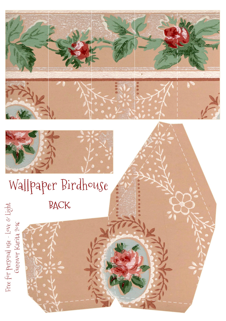Wings of Whimsy: Wallpaper Birdhouse No 7 Back #vintage #ephemera #freebie #printable #wallpaper #bird #house kopi kopi