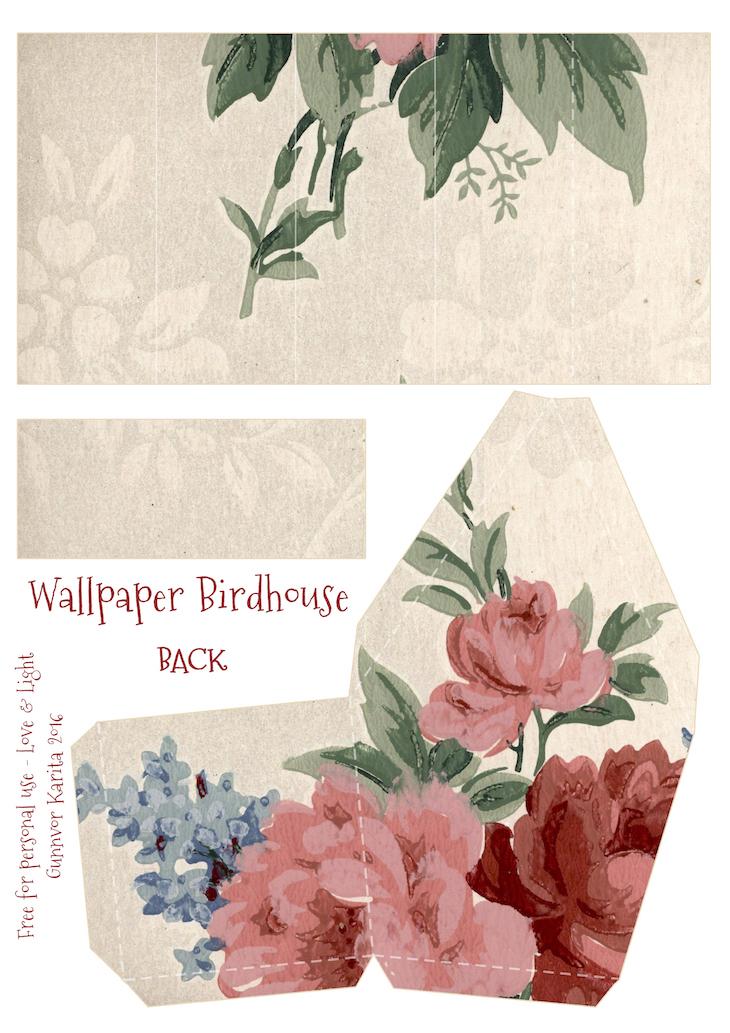 Wings of Whimsy: Wallpaper Birdhouse No 8 Back #vintage #ephemera #freebie #printable #wallpaper #bird #house kopi