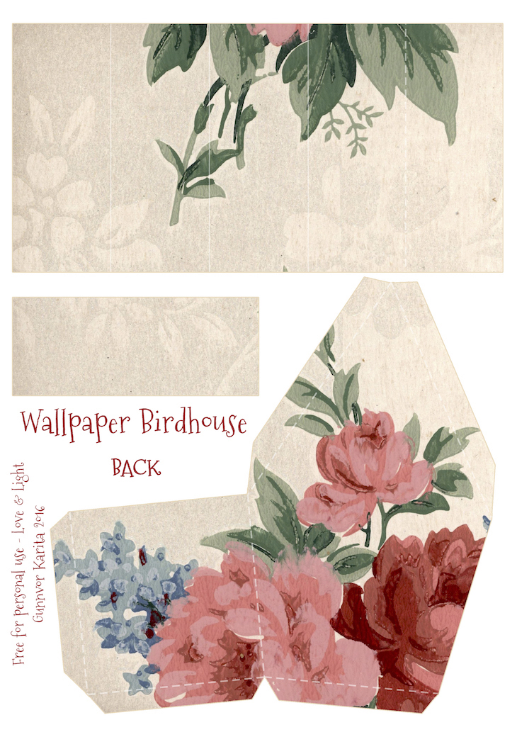 Wings of Whimsy: Wallpaper Birdhouse No 8 Back #vintage #ephemera #freebie #printable #wallpaper #bird #house kopi