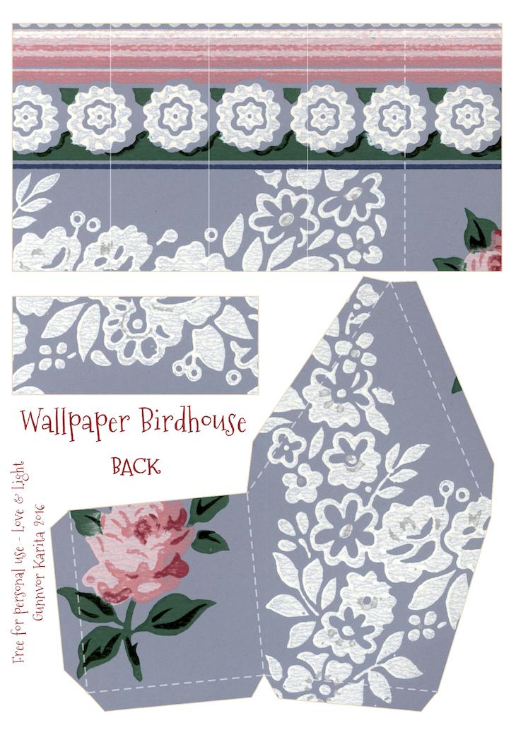 Wings of Whimsy: Wallpaper Birdhouse No 9 Back #vintage #ephemera #freebie #printable #wallpaper #bird #house