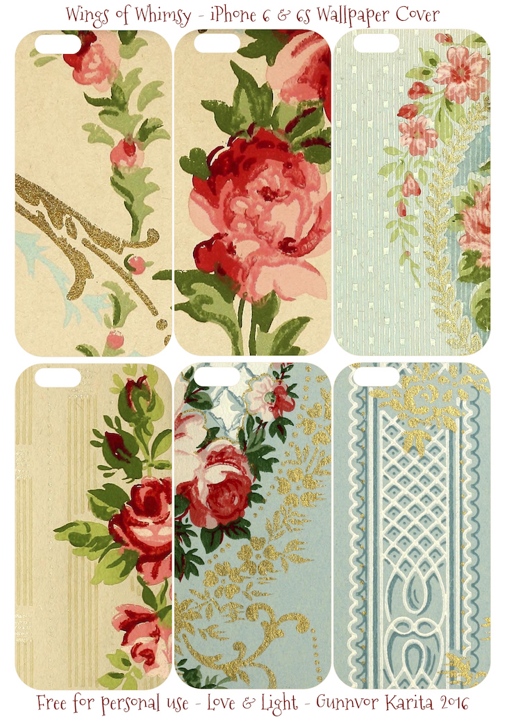 Wings of Whimsy: iPhone 6 Covers No 1 #vintage #epehemera #freebie #printable #wallpaper #iphone #cover