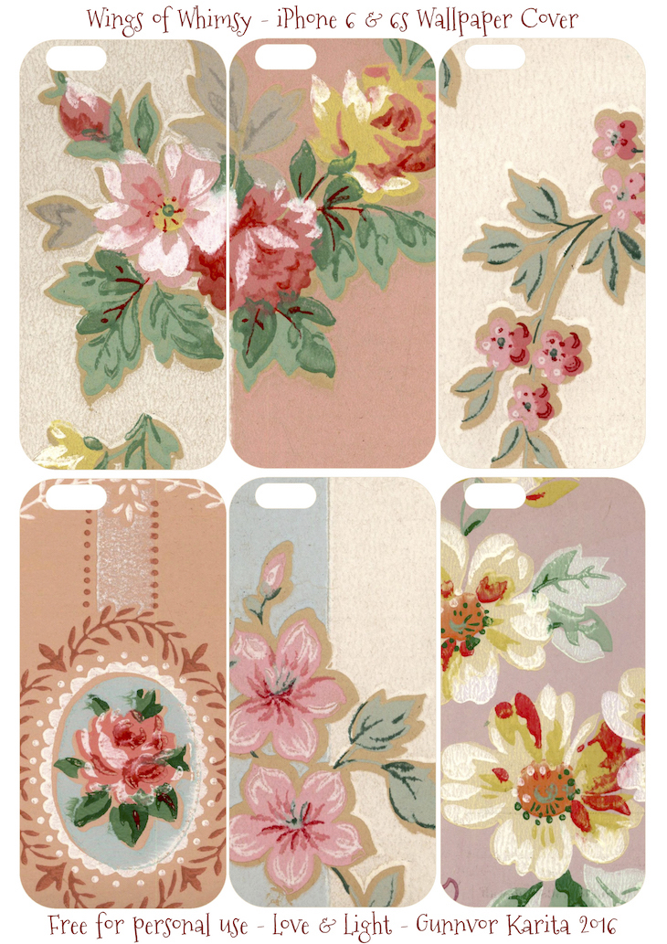 Wings of Whimsy: iPhone 6 Covers No 2 #vintage #epehemera #freebie #printable #wallpaper #iphone #cover