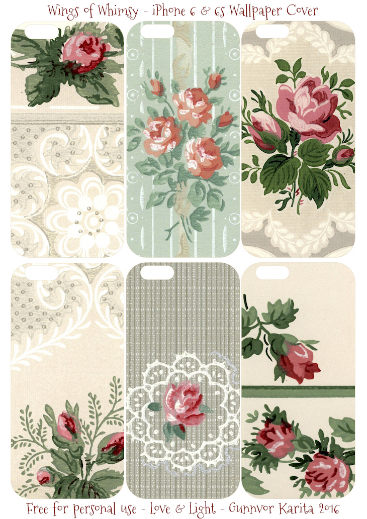 Wings of Whimsy: iPhone 6 Covers No 4 #vintage #epehemera #freebie #printable #wallpaper #iphone #cover