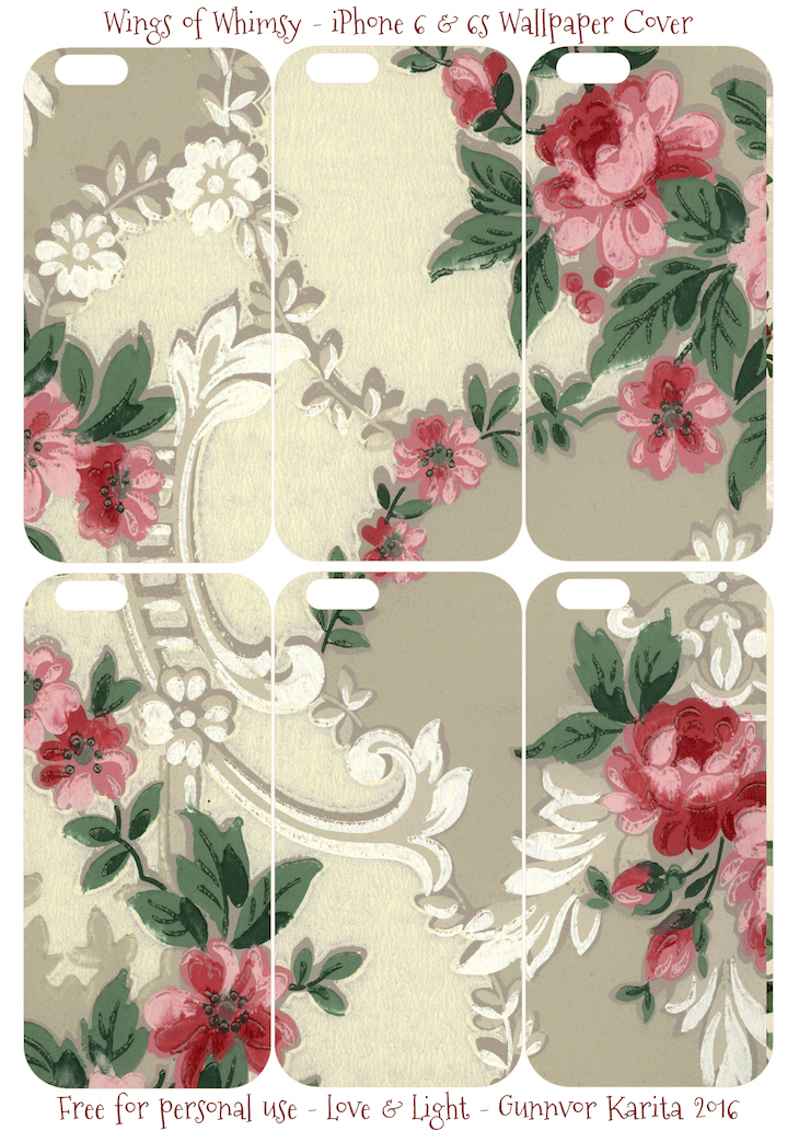 Wings of Whimsy: iPhone 6 Covers No 5 #vintage #epehemera #freebie #printable #wallpaper #iphone #cover
