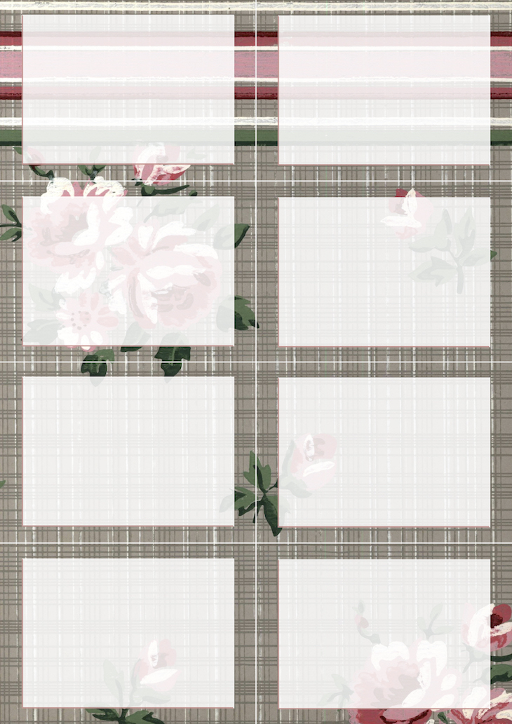 Wings of Whimsy: Vintage Wallpaper NOTES Blank No 2 #ephemera #vintage #freebie #printable #wallpaper #note