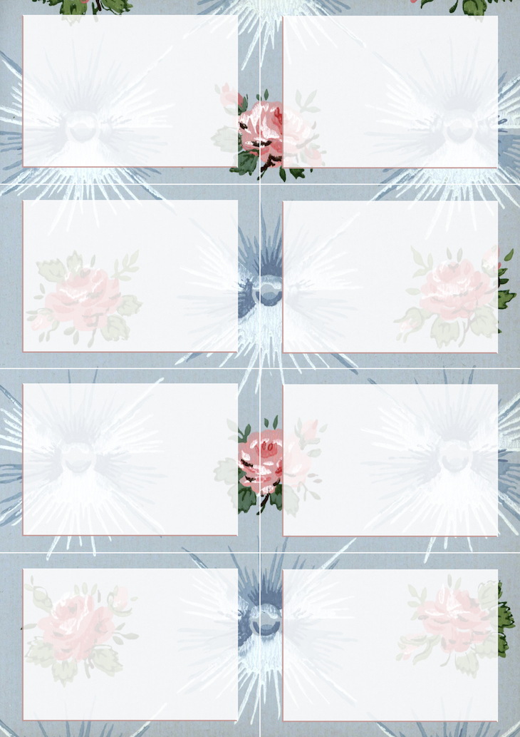 Wings of Whimsy: Vintage Wallpaper NOTES Blank No 4 #ephemera #vintage #freebie #printable #wallpaper #note