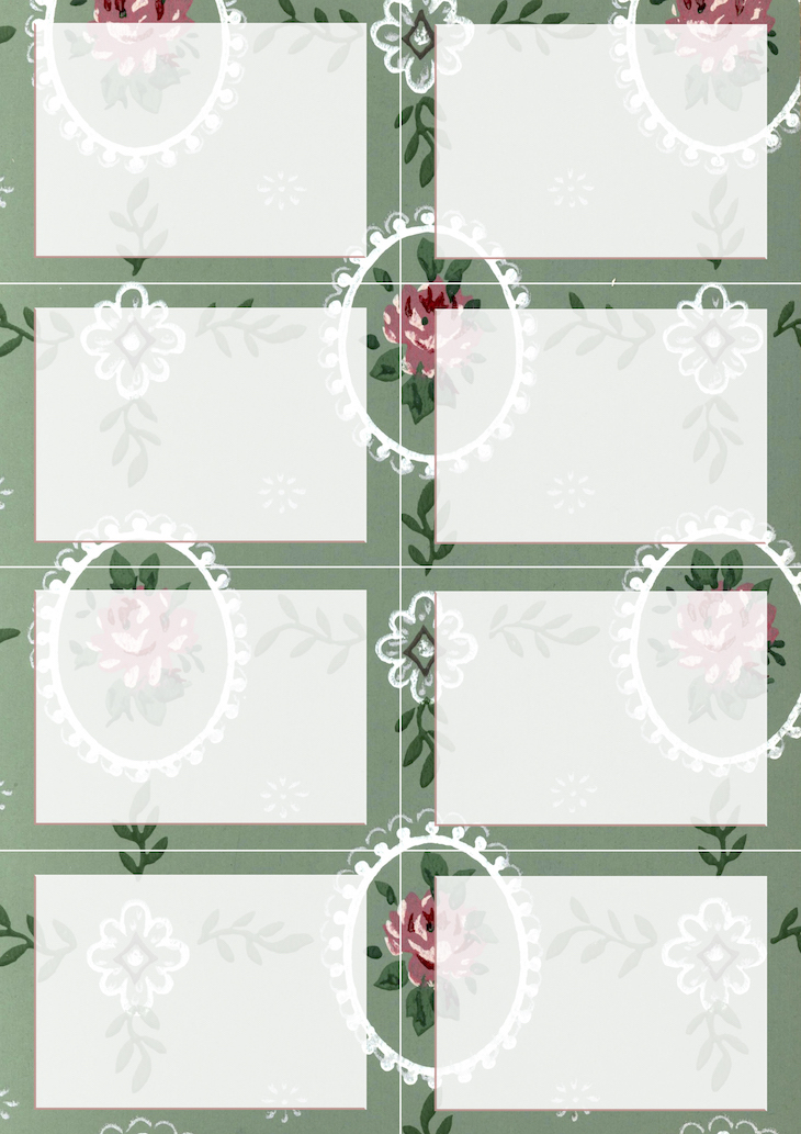 Wings of Whimsy: Vintage Wallpaper NOTES Blank No 5 #ephemera #vintage #freebie #printable #wallpaper #note