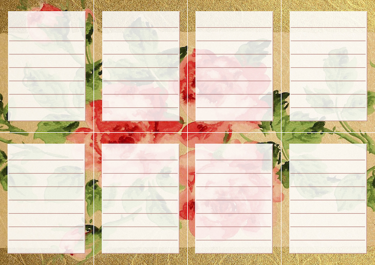 Wings of Whimsy: Vintage Wallpaper NOTES Lined No 2 #ephemera #vintage #freebie #printable #wallpaper #note
