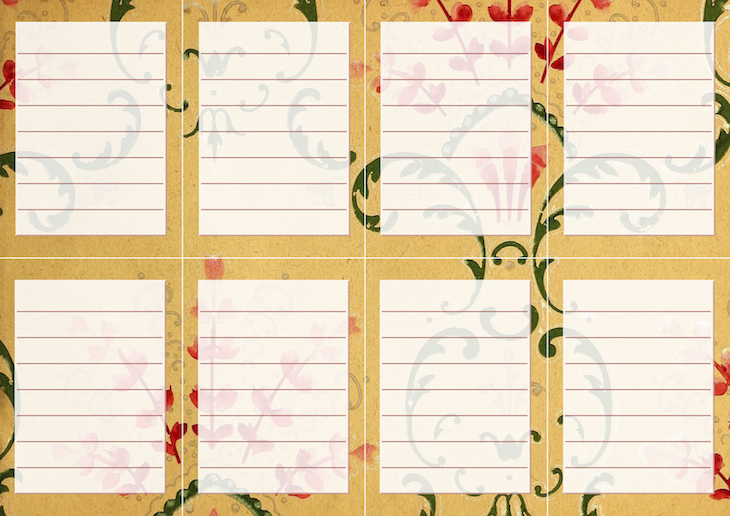 Wings of Whimsy: Vintage Wallpaper NOTES Lined No 4 #ephemera #vintage #freebie #printable #wallpaper #note