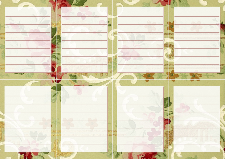 Wings of Whimsy: Vintage Wallpaper NOTES Lined No 5 #ephemera #vintage #freebie #printable #wallpaper #note kopi