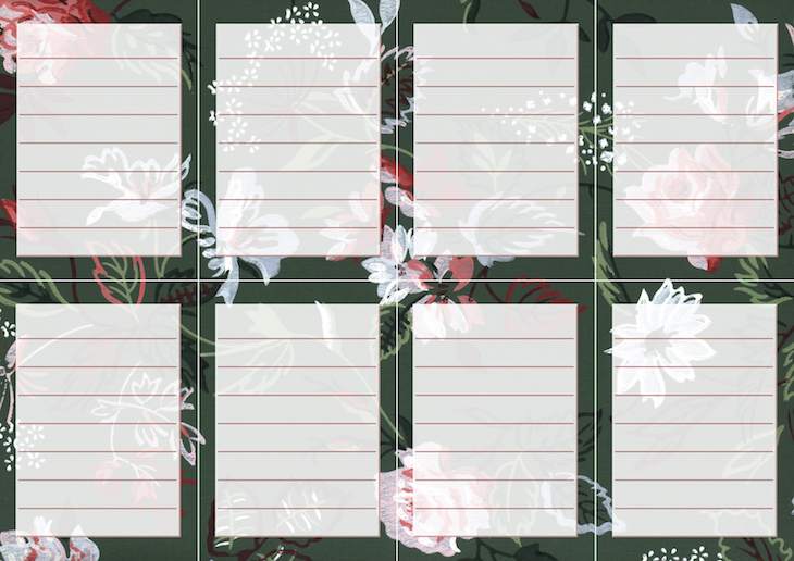 Wings of Whimsy: Vintage Wallpaper NOTES Lined No 6 #ephemera #vintage #freebie #printable #wallpaper #note