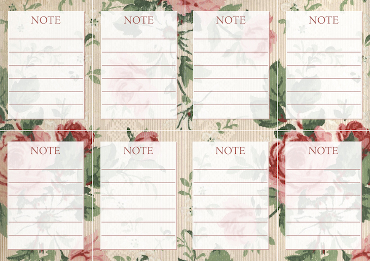Wings of Whimsy: Vintage Wallpaper NOTES No 1 #ephemera #vintage #freebie #printable #wallpaper #note