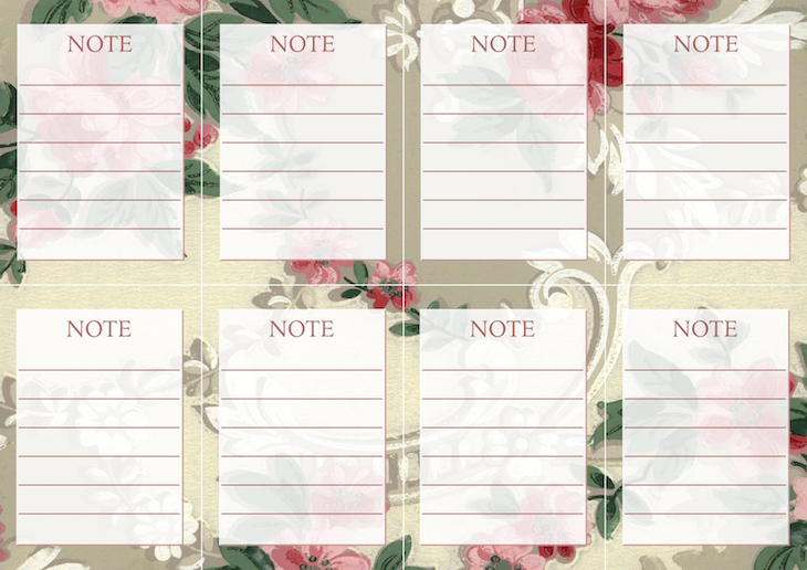 Wings of Whimsy: Vintage Wallpaper NOTES No 2 #ephemera #vintage #freebie #printable #wallpaper #note