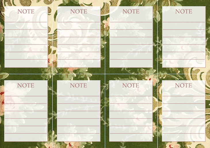 Wings of Whimsy: Vintage Wallpaper NOTES No 5 #ephemera #vintage #freebie #printable #wallpaper #note