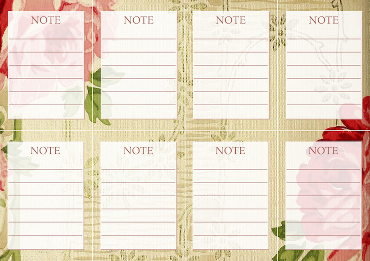 Wings of Whimsy: Vintage Wallpaper NOTES No 6 #ephemera #vintage #freebie #printable #wallpaper #note